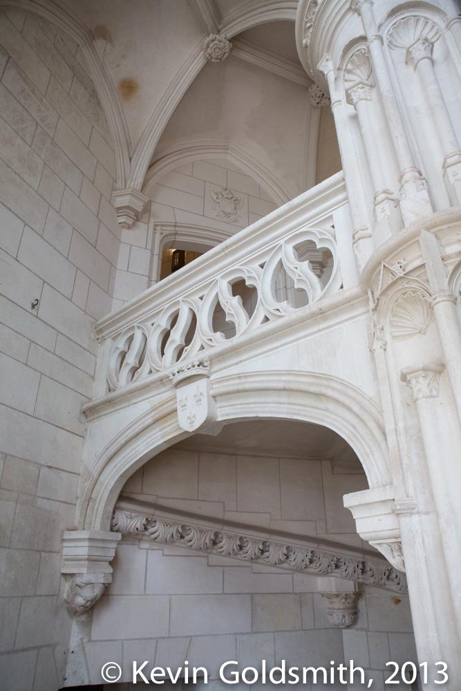 Chateau de Chaumont Sur Loire - stairs